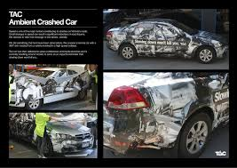 lexus canada helpline tac ambient advert by grey crashed car ambient ads of the world