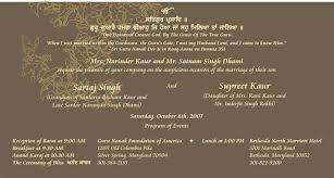 sles of wedding programs punjabi wedding invitation wording sles style by