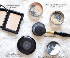 nars light reflecting pressed setting powder makeupbyjoyce swatches comparison loose and pressed