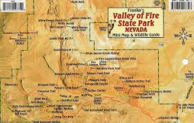 Mn State Park Map by Valley Of Fire State Park Nevada Mini Map And Wildlife Card By