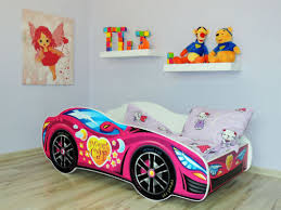 Car Bed For Girls by Racing Car Bed Pink Childrens Bed With Mattress 140x70cm For