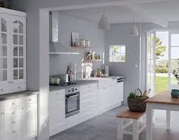 cuisine blanc et cuisine gris clair et blanc grise plan de travail on decoration d
