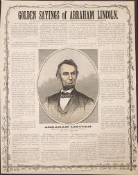 abraham lincoln mourning the speeches used in souvenir broadside