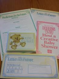 how to do time capsule baby shower