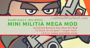 mega apk mini militia mega mod v4 0 36 pro player pack one kill hack apk