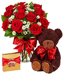 flowers and chocolate luxury one dozen roses bundle at from you flowers