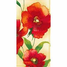 Paper Hand Towels For Powder Room - powder room bathroom poppy cream hand towel napkins collectibles