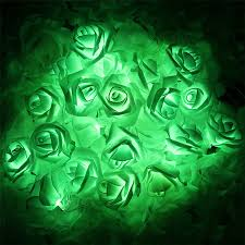 Novelty String Lights by Battery Powered 2m 20pcs Rose Flower Novelty Garland Fairy String