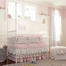 baby nursery pink nursery ideas with white chevron and volca dot