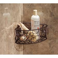 Interdesign Bathroom Accessories Interdesign Twigz Suction Corner Basket Bronze Walmart Com