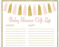 gift list printable gift etsy