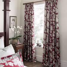 Dunelm Mill Nursery Curtains by Dorma Samira Red Lined Pencil Pleat Curtains Dunelm Curtain Tie