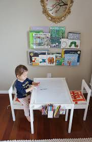 Kids Table And Chairs With Storage Diy Ikea Lätt Hack Craft Table With Paper Roll Trim To Hold