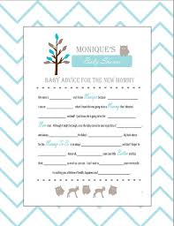 baby mad libs baby shower mad libs and wishes for the to be woodland