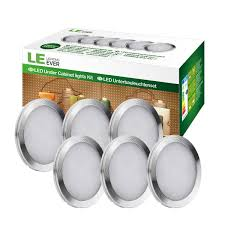 le led under cabinet lighting kit 1020lm puck lights 5000k