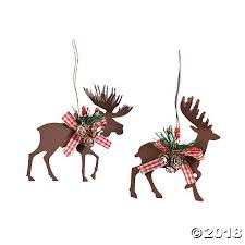 cut moose deer ornaments