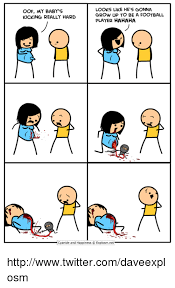Baby Kicking Meme - oof my baby s kicking really hard looks like he s gonna grow up to