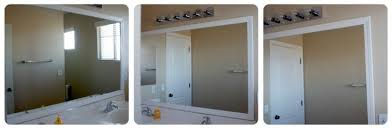 innovative creative how to frame a bathroom mirror with clips best