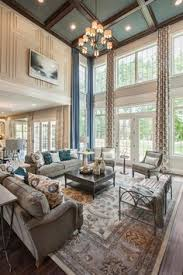 two story family room with coffered ceiling google search den