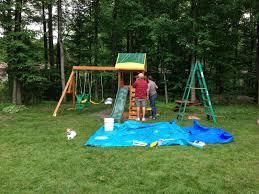 outdoor u0026 garden design cedar summit playset made of wood with