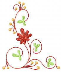 4 hobby machine embroidery designs flowers