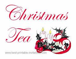 christmas tea party christmas tea party invitations