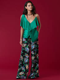 dvf blouse asymmetrical ruffle front blouse landing pages by dvf