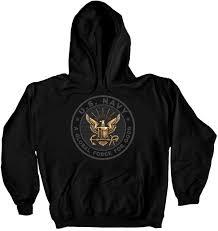 u s navy reflective hoodie black