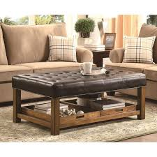 elegant ottoman with trays black storage ottoman with trays house