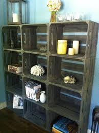 Small Rustic Bookcase Items Similar To 15pc Rustic Wooden Apple Crate Bookshelf With