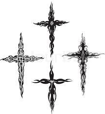 Small Tribal Cross - tribal crosses stock vector colourbox