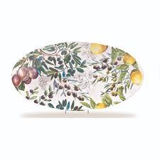 michel design works tuscan grove melamine oval platter convino