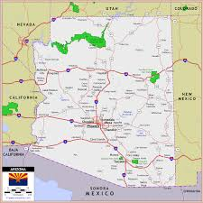 road map arizona usa united states historical maps perrycastañeda map collection
