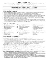 Business Systems Analyst Resume Examples by Business Analyst Resume Format Http Getresumetemplate Info