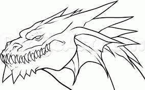 pictures of cool easy drawings coloring pages dragon drawing easy