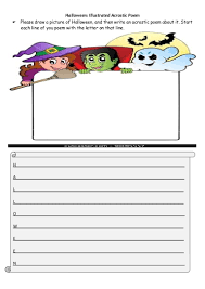 Acrostic Poems For Halloween Halloween Acrostic Poems
