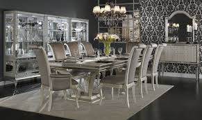 hollywood swank double pedestal dining room set aico furniture