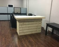 Rustic Reception Desk The Walnut 6 U0027 Rustic Sales Couter Reception Desk Or