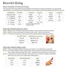 wrist bracelet size images Bracelet size chart nifty thrifty cool jpg