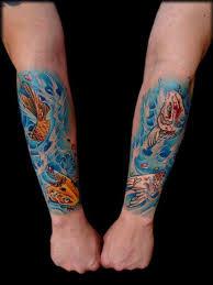 the edge of the deep green sea tattoo