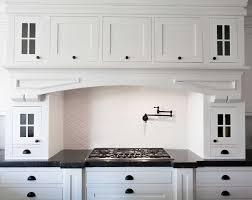 Kitchen Cabinet Shaker Kitchen White Shaker Kitchen Cabinets With Retro Backsplash For