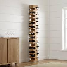 Crate And Barrel Bar Cabinet Big Sur Natural 30 Bottle Standing Wine Rack Crate And Barrel