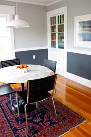 Two Tone Dining Room Paint Shelves Island Connecting Kitchen With Living Where The