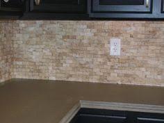 Mosaic Backsplash Tumbled Stone Backsplash With Mosaic Tile - Stone backsplash