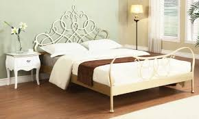 Decorative Metal Bed Frame Queen Modern Metal Bed