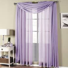 Lavender Window Curtains Abri Rod Pocket Crushed Sheer Curtain Panel Single