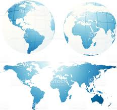 Flat Map Of World by Clip Art Of A World Flat Map Clip Art Vector Images
