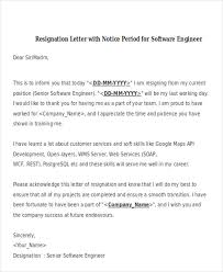 sle resignation letter resignation letter sle for software engineer 28 images sle