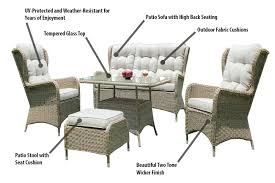 Charleston Outdoor Furniture by Charleston Way 5 Piece Outdoor Wicker Patio Sofa Set With Table