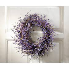 decorative wreaths for the home 19 7 in dia lavender inspired purple dried door wreath hd223193